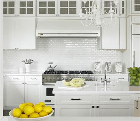 white kitchen subway tile backsplash all white kitchen design ideas