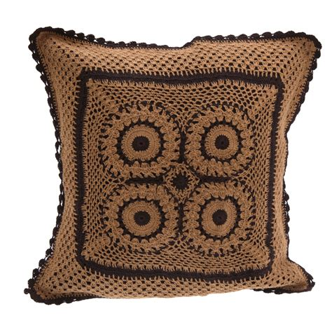 Handmade Cushions Uk - handmade crochet patterned cotton cushion cover ebay