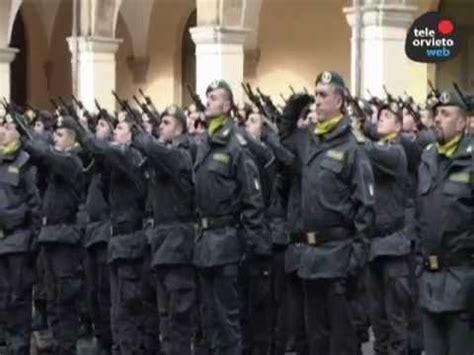 gdf:cerimonia della consegna dei baschi verdi agli allievi
