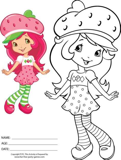 strawberry shortcake coloring pages print free 7814 gif 606 215 800 237 xeles coloring pages