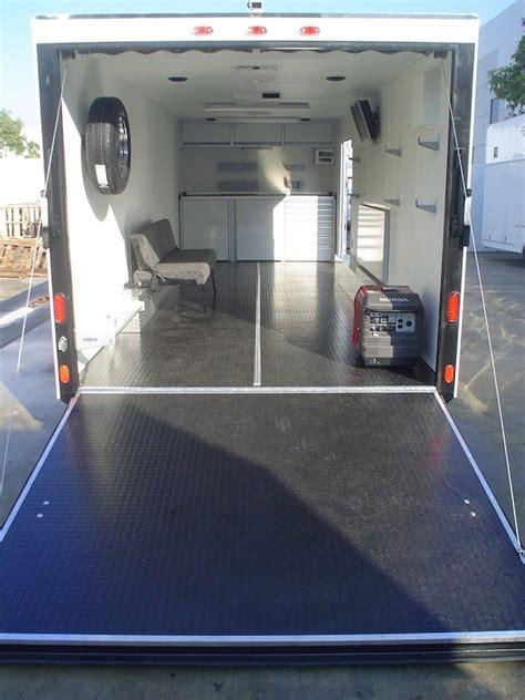 enclosed race trailer cabinets car interior design