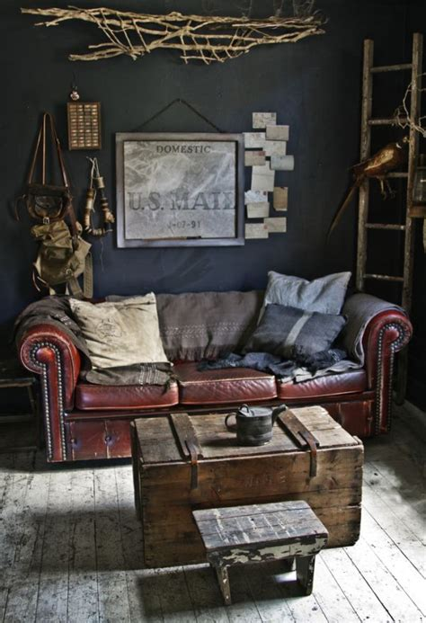 vintage home love living room ideas and a new desk leather sofas for all uber chic to mega comfortable