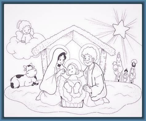 imagenes del nacimiento de jesus para pintar dibujos nacimiento del ni 241 o jesus para colorear archivos