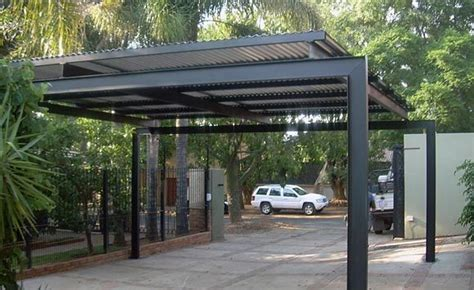 metal car porch metal carport unashamedly modern quot industrial quot styling