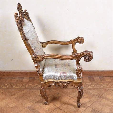 italian armchair important italian armchair 17th century