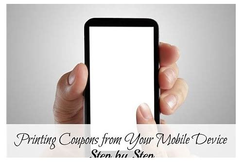 coupons for mobile devices