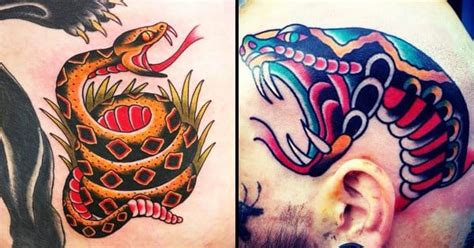 old school tattoo website 8 old school snake tattoos that will blow your mind tattoodo