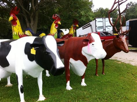 Garage Sale Cow by Large Metal Cows Yard Decoration