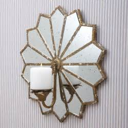 la june starburst mirrored wall sconce candle holders