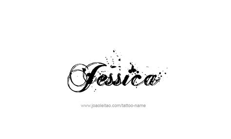jessica name tattoo designs