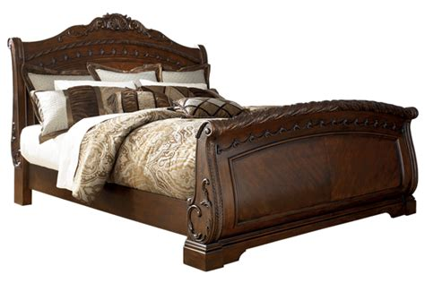 north shore sleigh bed north shore sleigh collection b553 ashley king bed frame