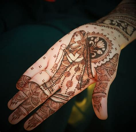 indian wedding henna tattoos meaning simple mehendi with bridal portrait designs