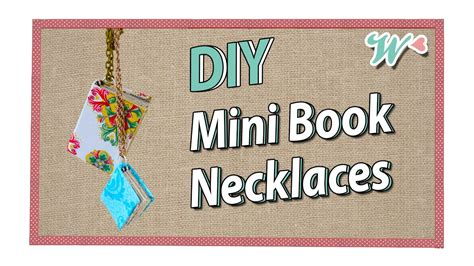 How To Make A Mini Book Out Of Paper - s crafts mini book necklaces inspired by