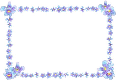 Ima Bordir the gallery for gt purple flower borders and frames