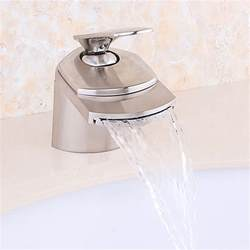 bric waterfall bathroom sink faucet brushed nickel or chrome