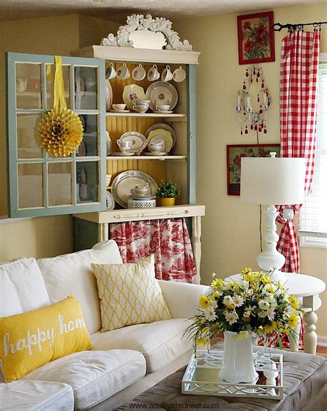happy living room happy yellow and cottage style living room decor a cultivated nest culture scribe