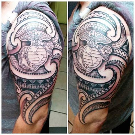 marine corps sleeve tattoo designs pin by sgt c tattoos piercings hawaii henna