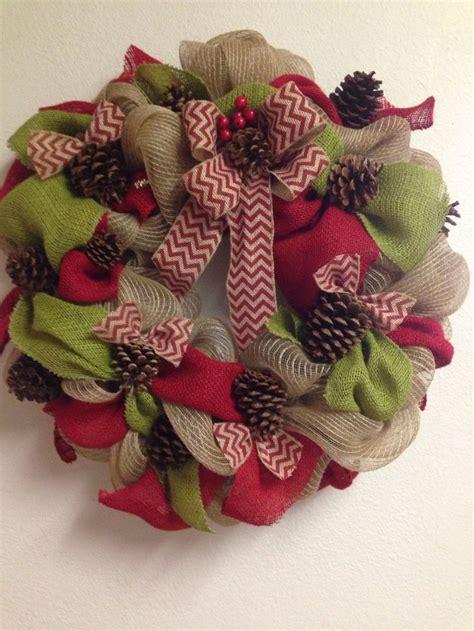 burlap christmas wreath a riley christmas pinterest