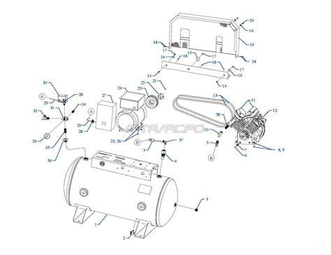 emglo parts gt5b 60 gt5b 80 gt5b 120 air compressors