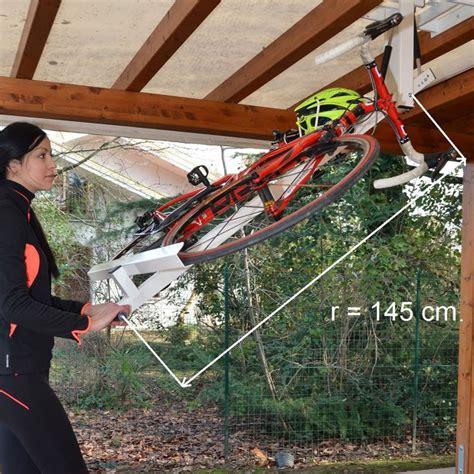 flat bike lift flat bike lift store your bike flat against the ceiling of