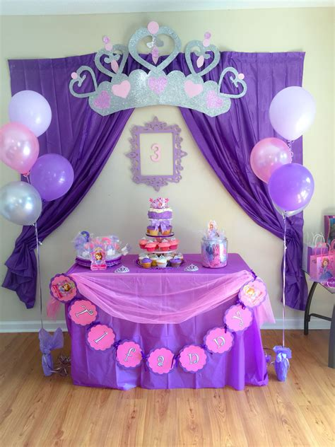 homemade themes by james sofia the first birthday decorations pinterest
