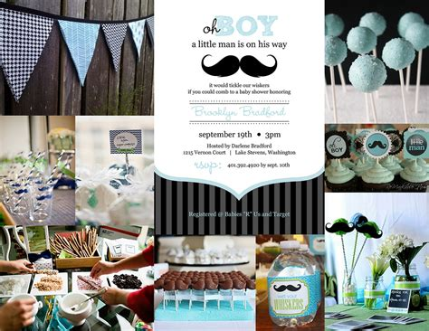 mustache themed baby shower decorations baby boy shower on baby boy shower invitations