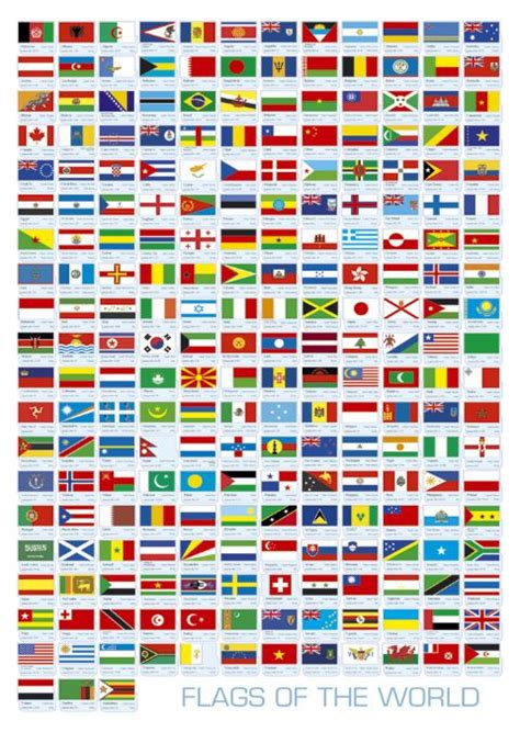 flags of the world poster map posters charts tables flags posters calendar toy