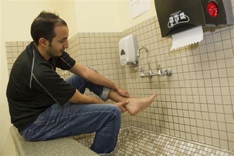 muslim bathroom new footbaths a nod to bu s growing muslim population bu