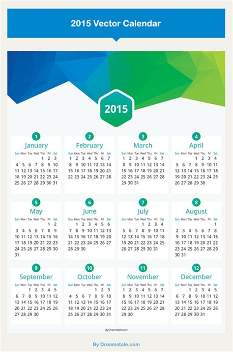 design calendar template 15 free 2015 vector calendar design templates designfreebies
