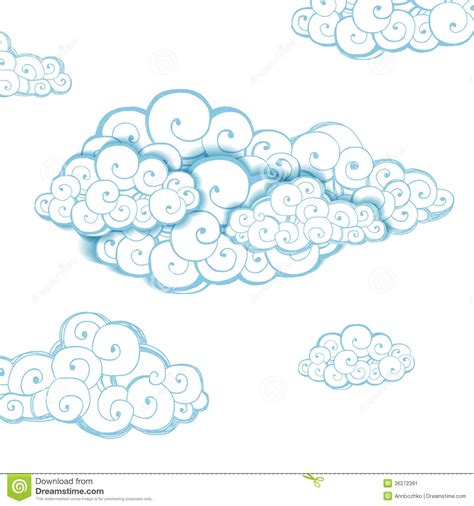 decorative background with clouds stock image image