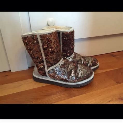 multi colored uggs 55 ugg boots ugg sparkle sequin chagne multi