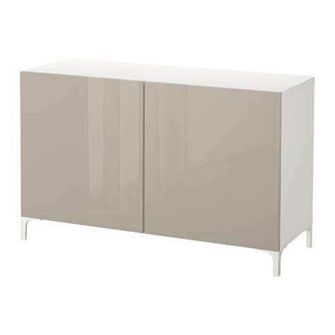Besta Beige by Best 197 Storage Combination With Doors White Selsviken