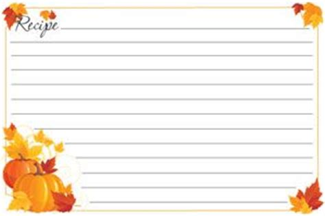 fall recipe cards templates problem solved http www solutions 2010 10 08