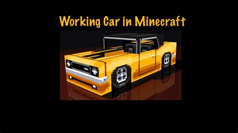 minecraft working car working car in minecraft with no mods for single player