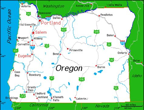 portland oregon on the usa map portland oregon map