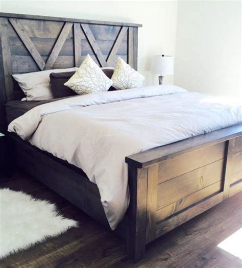 Barn Door Style Farmhouse Bed X Styling So Beautiful Barn Door Bed Frame