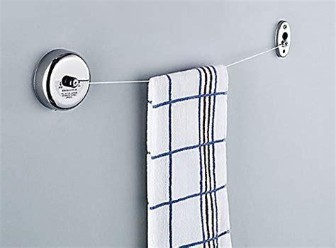 bathroom clothesline idea hanger idea hanger retractable silver laundry