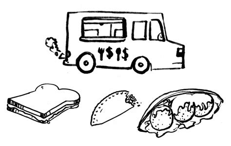 food truck coloring page best of food trucks az coloring pages