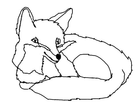Fox Drawing Outline by Fox Outline Www Imgkid The Image Kid Has It