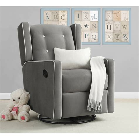 baby relax swivel glider and ottoman set in light gray baby relax harbour glider rocker and ottoman set beige