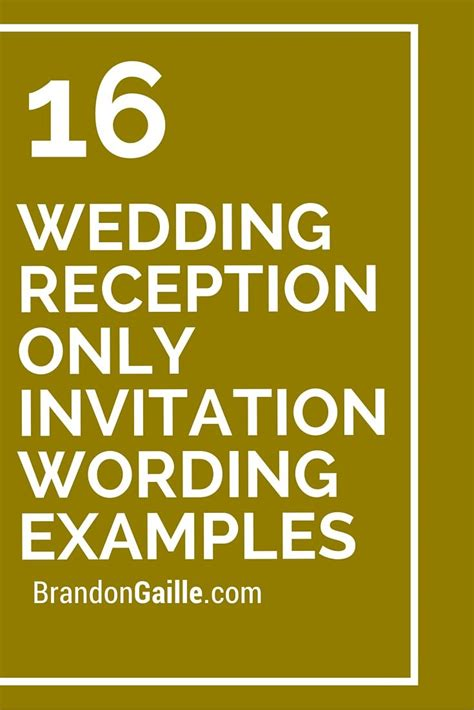 Wedding Reception Invitation Wording by 25 Best Ideas About Reception Only Invitations On