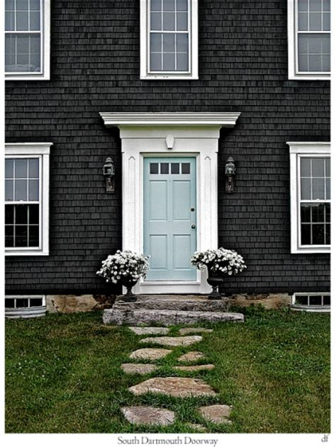 Blue Gray Front Door Bungalow Blue Interiors Home Blue Bold Beautiful