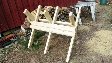 build firewood cutting rack diy folding sawbuck