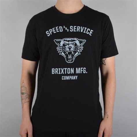 brixton rydell premium t shirt black skate clothing