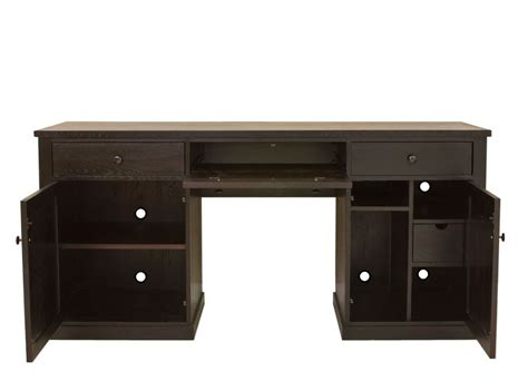 Contemporary Dark Wood Office Desk