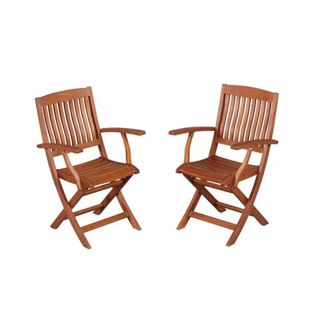 ean  hampton bay chairs adelaide eucalyptus patio dining arm chair  pack ktoc