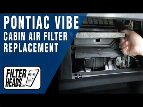 pontiac vibe cabin air filter cabin air filter replacement pontiac vibe