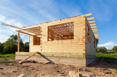construction    wooden house stock image colourbox
