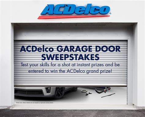 Garage Sweepstakes - acdelco garage sweepstakes and instant win game julie s freebies