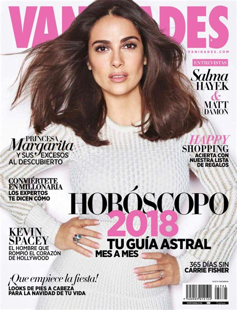 horoscopo vanidades salma hayek in vanidades magazine mexico november 2017